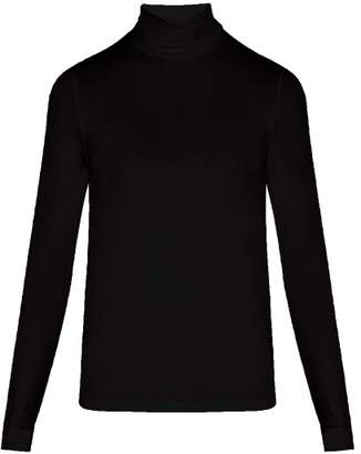 Raf Simons - Classic Stretch Jersey Roll Neck Sweater - Mens - Black