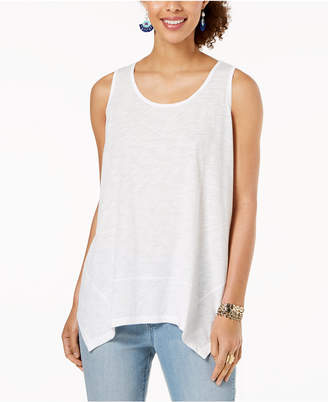 Style&Co. Style & Co Handkerchief-Hem Tank Top, Created for Macy's