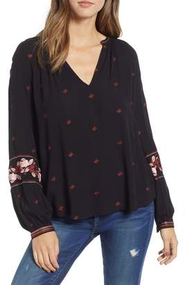 Amuse Society Campanilla Embroidered Woven Top