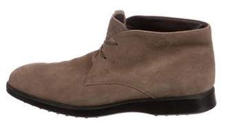 Tod's Suede Round-Toe Boots