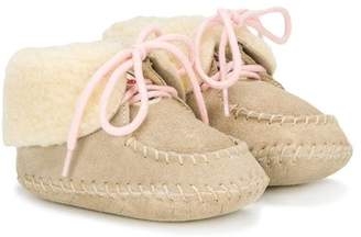 Moncler moccasin booties