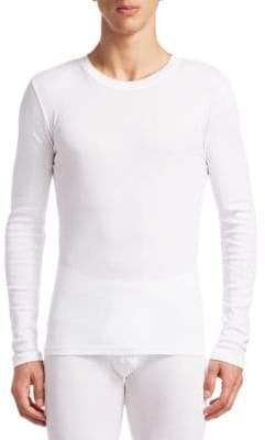 Calvin Klein Three-Pack Long-Sleeve Crewneck Cotton T-Shirts