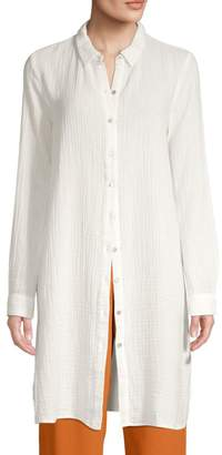 Eileen Fisher Organic Cotton Button-Down Tunic