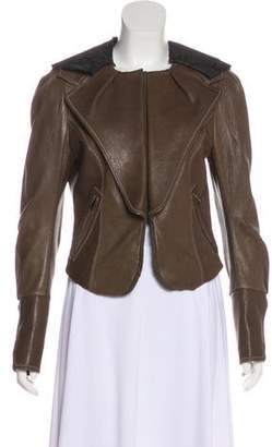 Hanii Y Leather Lace-Accented Jacket