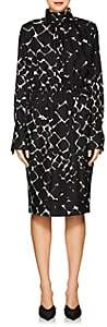 Marc Jacobs Women's Abstract-Print Silk Midi-Dress - Black Multi