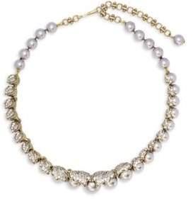 Heidi Daus Faux Pearl and Swarovski Crystal Necklace