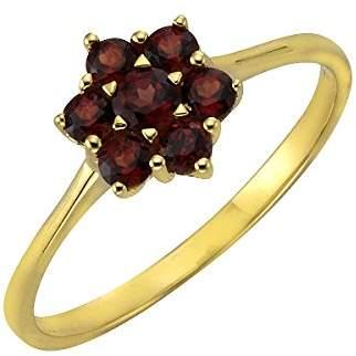 Celesta Fascination by Ellen K. Women's Ring 8 Carat (333) Yellow Gold Garnet Red 170370168 red