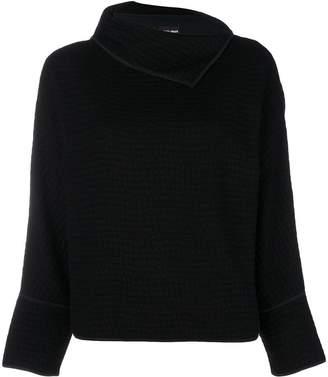 Giorgio Armani slit roll collar jumper