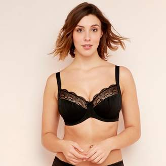 b09cb191a8 Gorgeous DD+ - Black  Bianca  Underwired Non-Padded Full Cup Balcony Bra