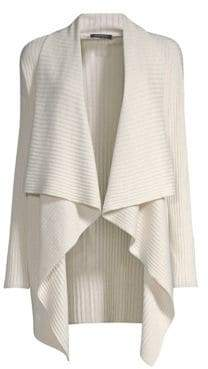 Lafayette 148 New York Wool Waterfall Cardigan