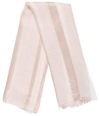 Giorgio Armani Silk Metallic Stripe Scarf