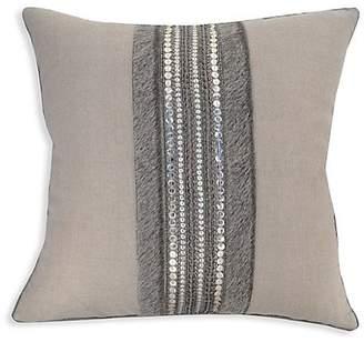 Callisto Home Embroidered Linen Pillow