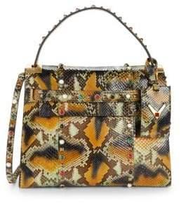 Valentino Snakeskin Leather Top Handle Bag
