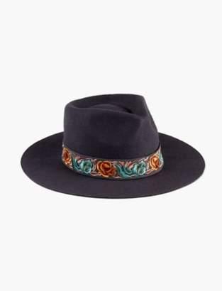 Lucky Brand LAYERED SATIN WOOL HAT