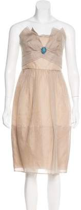 BCBGMAXAZRIA Runway Strapless Mini Dress