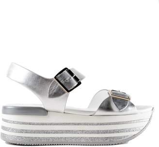 Hogan H370 Maxi Wedge Sandals