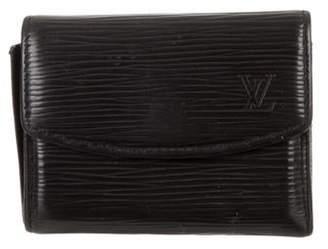 Louis Vuitton Epi Business Card Holder Black Epi Business Card Holder