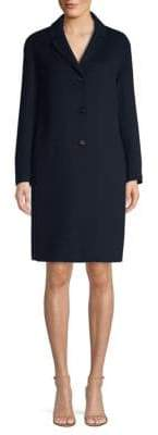 Max Mara Tcube Wool& Angora Notch Collar Coat