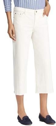 Ralph Lauren Cropped Wide-Leg Jeans in Cream