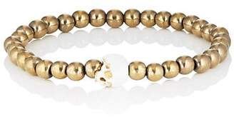 Luis Morais Men's Beaded Skull Bracelet - Gold