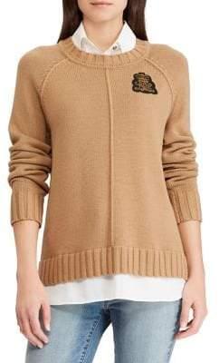 Lauren Ralph Lauren Bullion Patch Layered Sweater