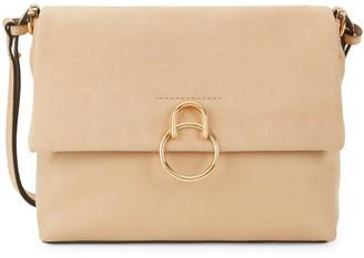 Vince Camuto Suede & Leather Flap Shoulder Bag