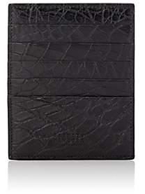 Barneys New York Men's Large Alligator Card Case-Black