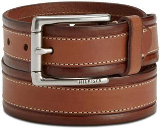 Tommy Hilfiger Men's Double-Stitch Dress Belt