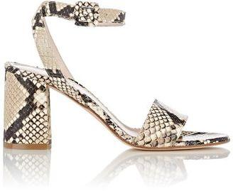 Barneys New York Women's Crisscross Ankle-Strap Sandals-NUDE $295 thestylecure.com