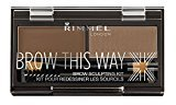 Rimmel Brow This Way Sculpting Kit, Medium Brown, Powder 0.04 Ounce, Wax 0.03 Ounce $5.99 thestylecure.com