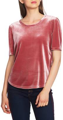 1 STATE 1.STATE Puff Sleeve Velvet Top
