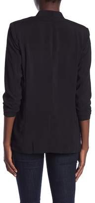 Kenneth Cole New York Crepe 3\u002F4 Sleeve Jacket