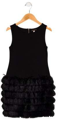 Ella Moss Girls' Sleeveless Fringed Dress