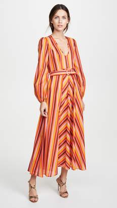 Zimmermann Goldie Rainbow Plunge Dress