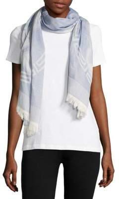 VersaceWool-Blend Logo-Print Scarf