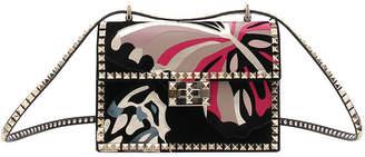 Valentino Rockstud No Limit Butterfly Velvet Shoulder Bag
