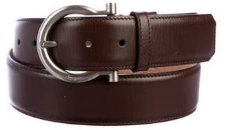 Salvatore Ferragamo Gancio Leather Belt