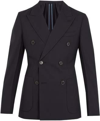 Peak-lapel double-breasted jacket