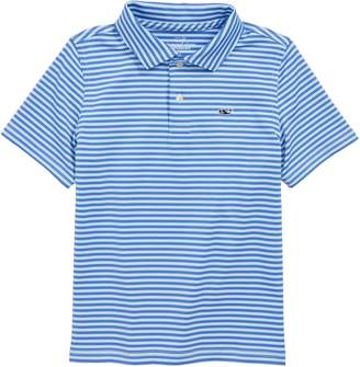 Vineyard Vines Feeder Stripe Performance Polo