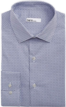 Bar III Men's Classic/Regular Fit Stretch Connected Medallion Print Dress Shirt