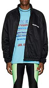 Martine Rose Men's Twisted Tech-Jersey Track Jacket-Black