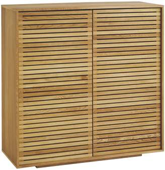 URBAN RESEARCH Max Oiled oak 2 door cupboard with slatted