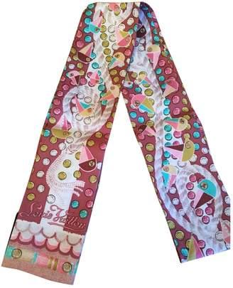 Louis Vuitton Pink Silk Scarves