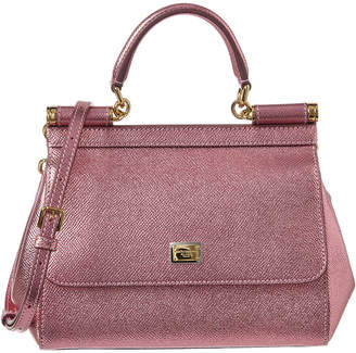 07f68556f Dolce & Gabbana Pink Metallic Leather Handbags - ShopStyle
