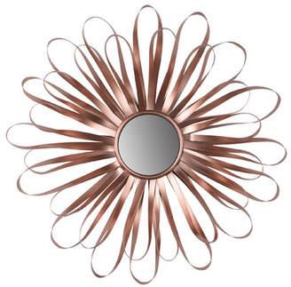 Bungalow Rose Sunburst Rose Gold Wall Mirror