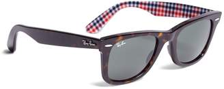 Brooks Brothers Ray-Ban Wayfarer Sunglasses with Gingham