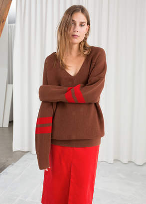 And other stories Stripe Sleeve Sweater