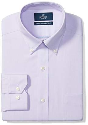 Buttoned Down Men's Tailored Fit Button-Collar Solid Non-Iron Dress Shirt (Pocket)