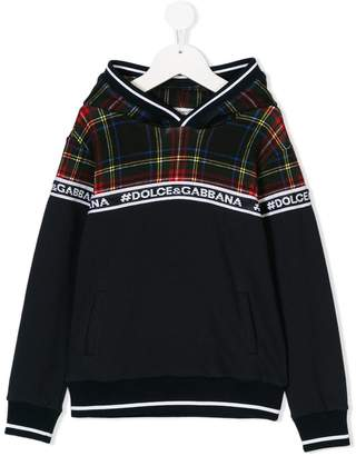 Dolce & Gabbana checked top hoodie