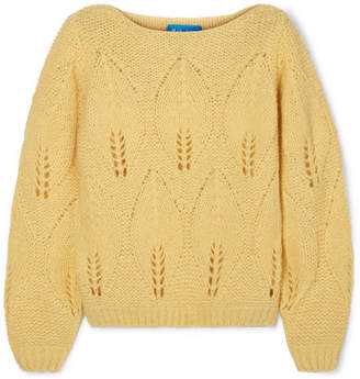 MiH Jeans Lacey Knitted Sweater - Yellow
